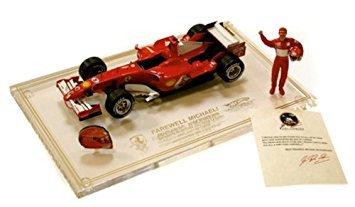 1 :18 Scale Ready Made Die Cast Ferrari F2006 M Schumacher LE 9250 Brazil Gp Helmet Figure Cert