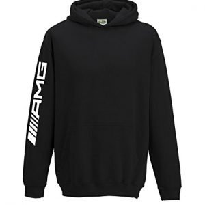 Mercedes AMG Kids Hoodie F1 Hamilton Hood 1339 Black, 9-11 Years