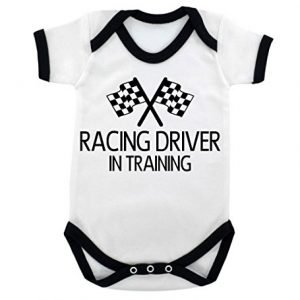 Baby romper Racing driver in training