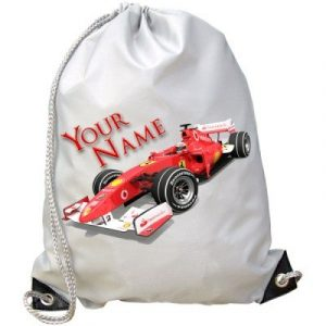 Personalised Kids Formula One F1 Gym / PE / Swimming Bag