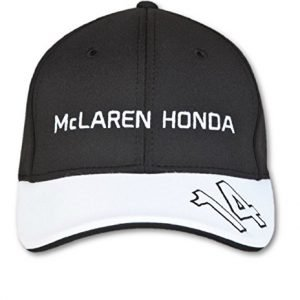 McLaren Honda Official Fernando Alonso Cap Kids Black Hat Headwear Formula 1