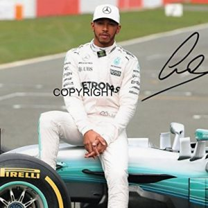 LIMITED EDITION LEWIS HAMILTON 2017 FORMULA ONE SIGNED PHOTOGRAPH + CERT PRINTED AUTOGRAPH