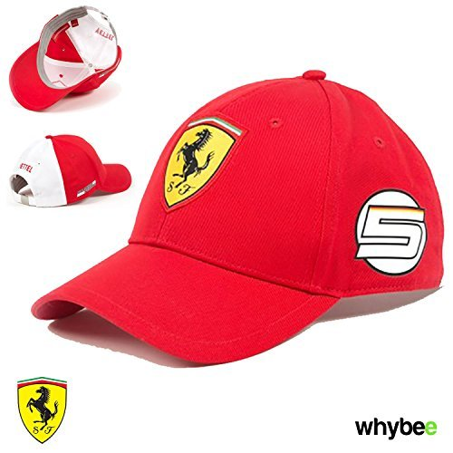 puma ferrari red cap Source · New 2017 Ferrari Sebastian Vettel 5 Special  Edition F1 Cap Red 2aed0f1808ad