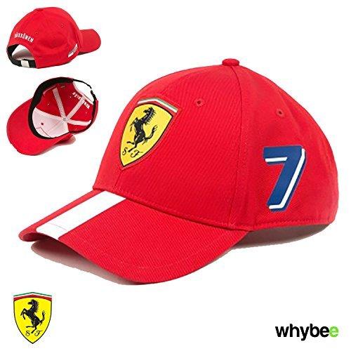 New! 2017 Ferrari Kimi Raikkonen #7 Special Edition F1 Driver Cap Red/White