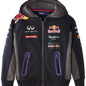 Pepe Red Bull Racing Collection Boy's OTL Hoodie Junior Sweatshirt, Blue (Navy), 12 Years