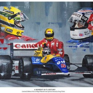A Moment in F1 History - Ayrton Senna and Nigel Mansell