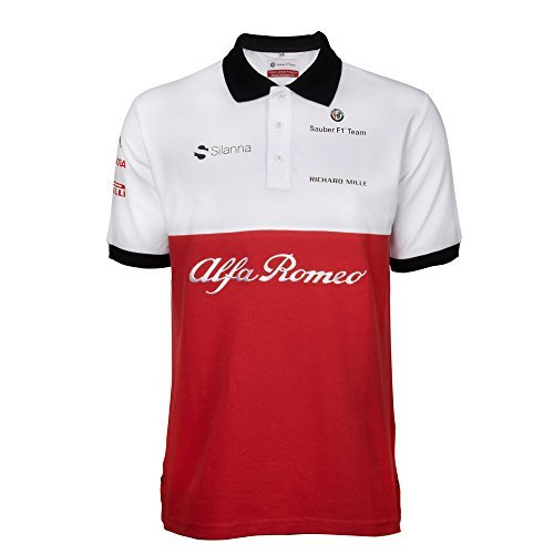 alfa romeo sauber f1 team polo t shirt 2018 m formula 1 merchandise store f1. Black Bedroom Furniture Sets. Home Design Ideas