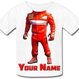 Babysmiles Personalised Racing Driver F1 Body Kids T-Shirt