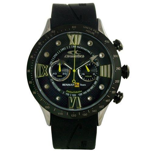 Chronotech Men's CT.7889M 04 Renault F1 Black Rubber Watch