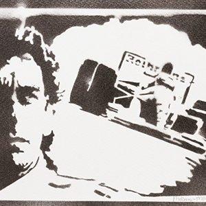 F1 Ayrton Senna Handmade Street Art