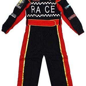 Get Wivvit Boys Racing Car Driver Motor Sport Dressing Up Jumpsuit Costume Sizes from 6 to 12 Years