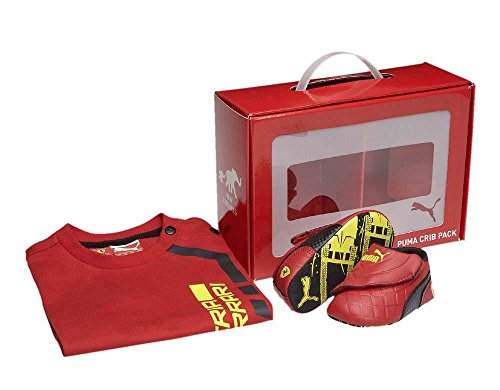 51f476be4ce0 Puma Scuderia Ferrari Baby Boy Crib Shoes Tee Shirt Gift Pack (9-12 ...