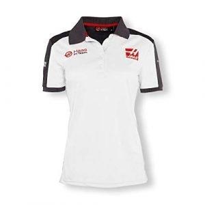 Haas F1 Team Ladies White & Grey Polo Shirt