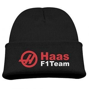 6996e26b ... Haas F1 Team Warm Winter Hat Knit Beanie Skull Cap Cuff Beanie Hat  Winter Hats Children