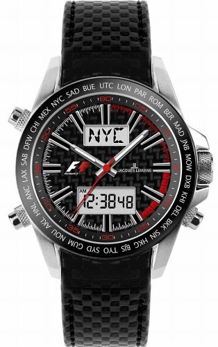 Jacques Lemans Formula 1™ UTC - Black Gents Bracelet Watch.jpg