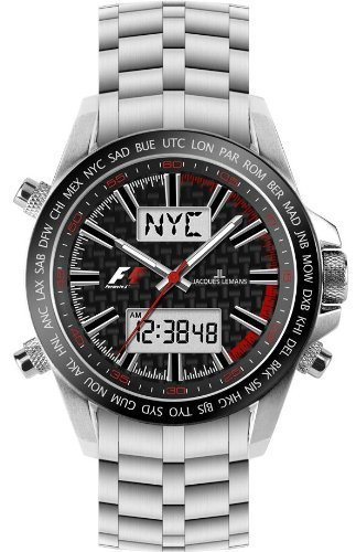 Jacques Lemans Formula 1™ UTC - Chrono F-5024B Gents Metal Bracelet Watch