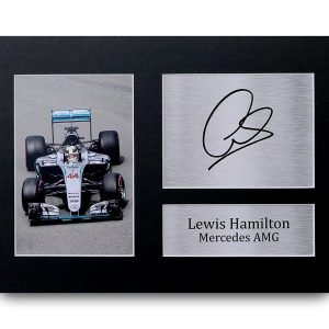 Lewis Hamilton Signed A4 Printed Autograph Mercedes F1 Print Photo Picture Display