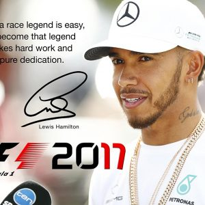 Lewis Hamilton signed poster 2017