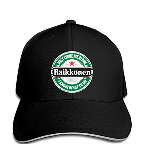 Men Baseball Cap Kimi Raikkonen Leave Me Alone Circular Logo (I Know What to Do) Fashion Hat Novelty tsnapback Women