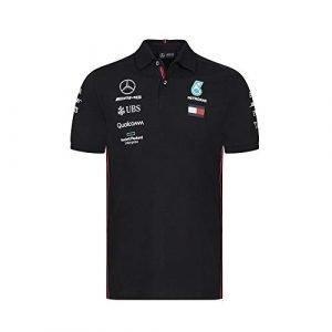 Mercedes-AMG Petronas Motorsport Men's 2019 F1™ Team Polo Shirt (Black)
