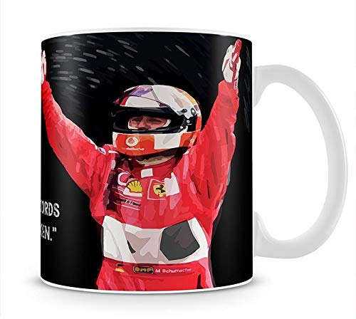 Michael Schumacher Records Mug - Formula 1 Merchandise