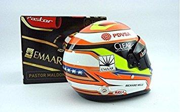 Model Helmet Mini Formula One 1 Lotus F1 Team Pastor Maldonado 1 2 Scale 2014