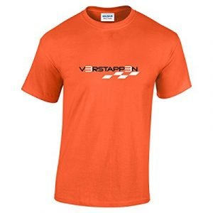 Rinsed Verstappen F1 T-Shirt (Orange Medium)