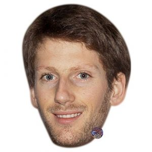 Romain Grosjean Celebrity Mask, Card Face and Fancy Dress Mask