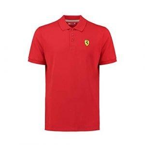 Scuderia Ferrari Men's Classic Polo Shirt   Red   2019