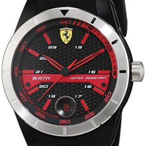 Scuderia Ferrari Mens Quartz Watch, Analogue Classic Display and Silicone Strap 0830253