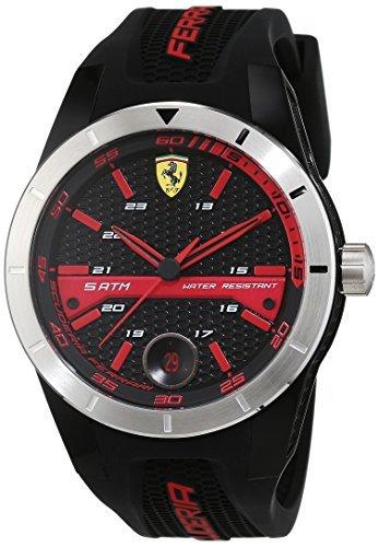 Scuderia Ferrari Mens Quartz Watch, Analogue Classic Display and Silicone Strap 0830253