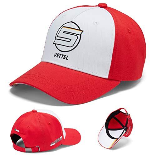 ferrari 2018 sebastian vettel 5 adult baseball cap. Black Bedroom Furniture Sets. Home Design Ideas