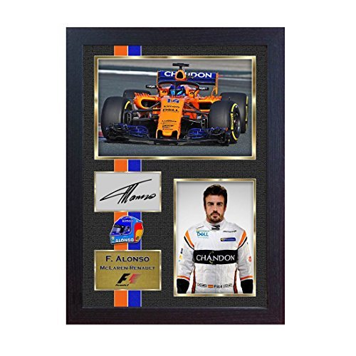 Signed photo framed Fernando Alonso 2018