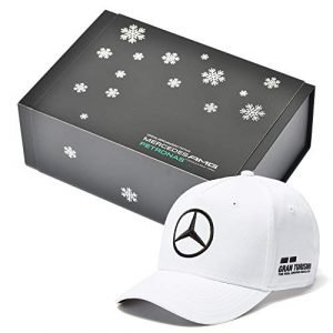 Whybee 2018 Lewis Hamilton White Team Cap in Official Mercedes F1 Box!